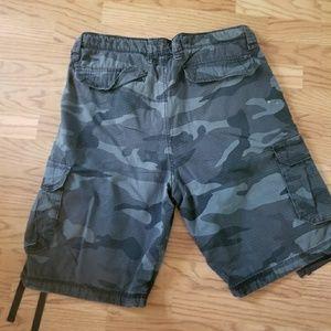 Gray camo men's cargo pants Sz 38 (JJ0576)